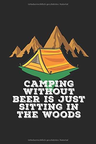 Bier Camping Notizbuch: Bier und Zelten Notizbuch / Notizheft / Notizblock A5 (6x9in) Dotted Notebook / Punkteraster / 120 gepunktete Seiten
