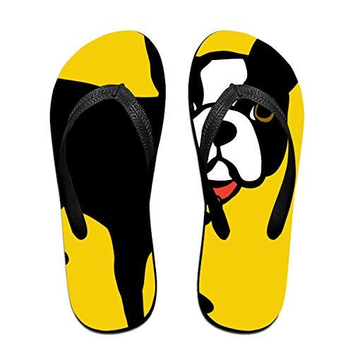 Boston Terrier und französische Bulldogge Unisex Erwachsene Casual Flip-Flops Sandale Pool Party Hausschuhe Badezimmer Wohnungen Open Toed Slide Schuhe M