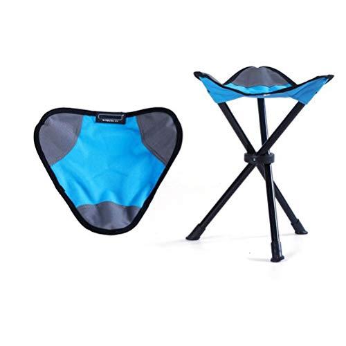 Ln Kleiner Klappstuhl Dreieck Hocker Bequeme Liegestuhl for Outdoor-Camping Fischen-Stuhl - (blau)