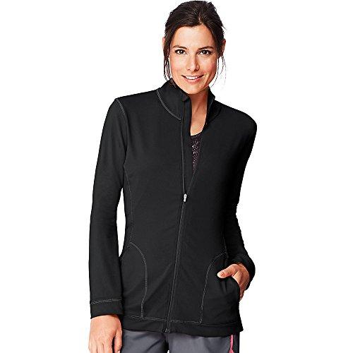 Hanes Sport Women's Performance Fleece Zip Up Jacket Black