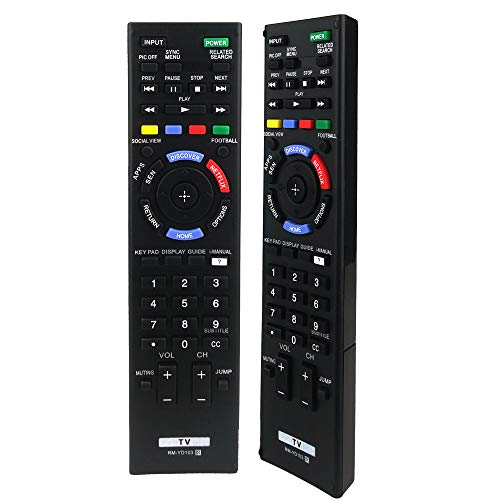 AZMKIMI RM-YD102 RM-YD103 Universal TV Remote Control Replacement for Sony Bravia HDTV LCD LED 3D Smart TV