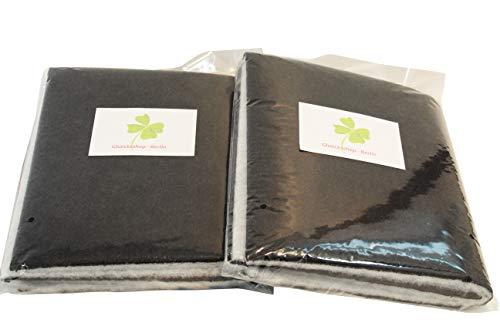 Gluecksshop Lot de 2filtres à charbon actif, pour hotte aspirante, découpables, universels, 57 x 47cm, noirs