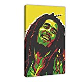 Hip Hop Legends Bob Marley 1 - Póster de lienzo para pared (60 x 90 cm)