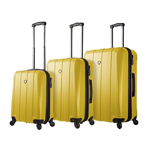 Mia Toro Italy Tosetti Hardside Spinner Luggage 3pc Set, Gold, One...