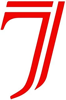 Set of 3 - Number 7 Style #39 Color: Seven Decal Sticker Color: red- Peel and Stick Vinyl Sticker