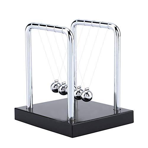 Hztyyier Metall Balance Ball, Newtons Wiege Balance Bälle Physik Wissenschaft Pendel Ornamente Art In Motion Spielzeug 9*8*9CM