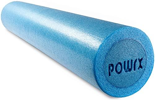 Rodillo ideal para ejercicios de automasaje, estiramientos, relajación y descanso muscular – Indicado también para ejercicios de yoga, pilates, gimnasia y rehabilitación – Rulo fabricado en poliestireno expandido que garantiza resistencia y durabilidad – Foam Roller (Celeste - 90 x 15 cm)