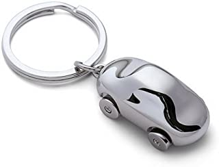 HIGAR Antique Car Silver Metal Keyring and Keychain