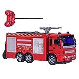 Haowecib Voiture télécommandée, Voiture de pulvérisation d'eau véhicules de Jeu Jouets modèle de Voiture avec lumières et Effets sonores pour Cadeaux pour garçons(Arroseur d'incendie télécommandé)