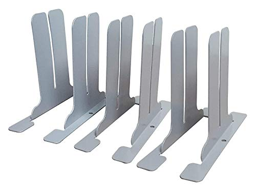Sneeze Guard Feet Bracket Legs for Table & Desk - DIY Partition Barriers Freestanding Divider (6 Brackets)