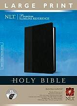 Premium Slimline Reference Bible NLT, Large Print, TuTone (Red Letter, LeatherLike, Black/Onyx, Indexed)