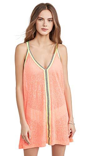 Pitusa Women's Mini Sundress, Watermelon, Orange, One Size