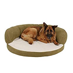 round-shaped Orthopedic dog bed with bolster