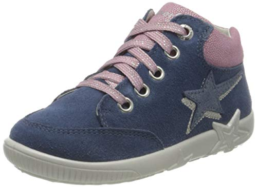 Superfit Starlight Sneaker Lauflernschuh, BLAU/ROSA, 25 EU