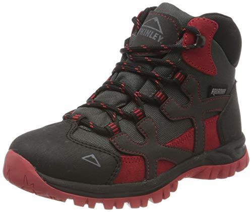 McKINLEY Unisex-Kinder Trekkingstiefel Santiago Pro AQX Trekking- & Wanderstiefel, Grau (Anthracite/Red Dark 000), 28 EU