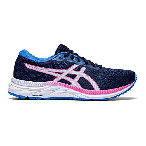 Asics – Sneaker Gel-Excite 7 für Damen, Blau - Einkaufstrolley, Weiß. - Größe: 42.5 EU