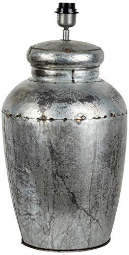 Better & Best 3091071 Lámpara sobremesa alta con copete redondo acabado en zinc de zinc, color: gris