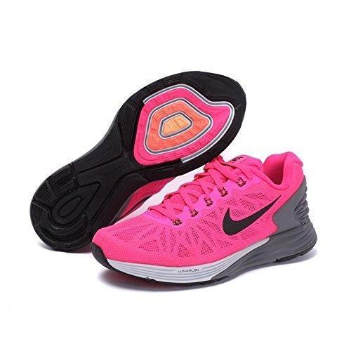 Nike Mädchen WMNS Lunarglide 6 Laufschuhe, Rosa/Gris, 37.5 EU