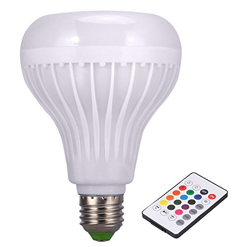 MongKok Wireless Bluetooth Speaker Bulb LED Light Lamp Smart Music Playing with Remote Controller