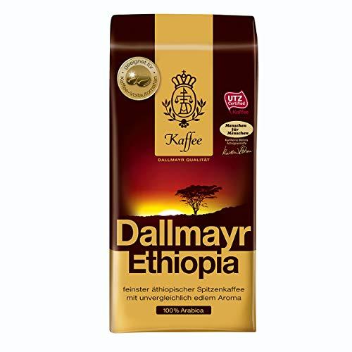 Dallmayr Ethiopia, Bohnenkaffee, Kaffee, Röstkaffee, Kaffeebohnen, 100% Arabica, 12 x 500 g