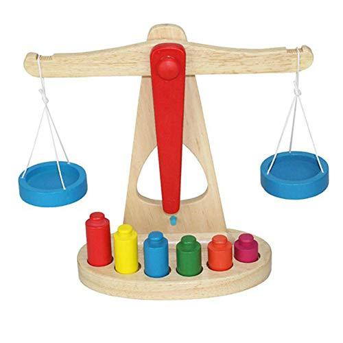DishyKooker Houten Balans Schaal Groep Kinderen Wiskunde Leermiddelen Kleuterschool Vroeg Onderwijs Wegen Speelgoed Handig Leven