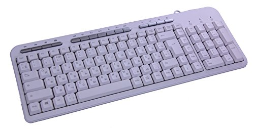 froggit Deutsch-Russisch-Kyrillisch Multimedia USB Tastatur PK703 Weiß