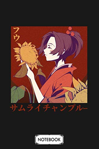 Fuu Samurai Champloo. Mugen X Jin X Fuu Notebook: Matte Finish Cover, Journal, Planner, 6x9 120 Pages, Lined College Ruled Paper, Diary
