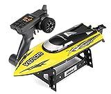 YLEI 2.4 Ghz RC Boot, Elektro Rennboot mit Fernbedienung, interne Wasserkühlung, Selbstaufrichtfunktion,Top-Speed bis zu 25km/h, einfach zu steuern,Gelb