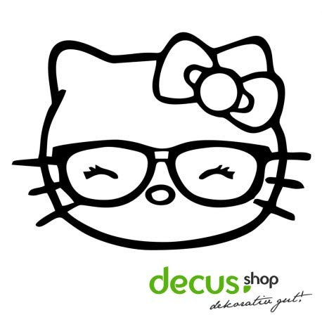 Decus Hello Kitty - Geek Girl // Sticker OEM JDM Style Aufkleber