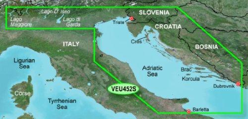 Garmin BlueChart g3 Vision Seekarte Region Europa, Abdeckungsbereich VEU452S - Adria Nordküste, Kartengröße Small
