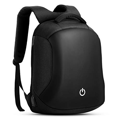 HOMIEE Anti-theft Backpack, 15.6 Inch Business Travel Laptop Backpack with USB Charging Port and Headphone Jack, Water Resistant Reflective Strip Large Compartment Work College Computer Rucksack