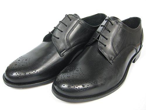 Giorgio Scarpe Giorgio Scarpe 13114 Derby Leder Schuh Handgenäht Ledersohle schwarz/Whisky