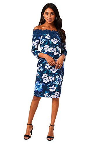 Paper Dolls dames jurk Floral Print Bardot Dress