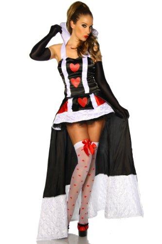 Damen Kostüm Petticoat-Rock mit Schleppe und Oberteil Gr. 34-36