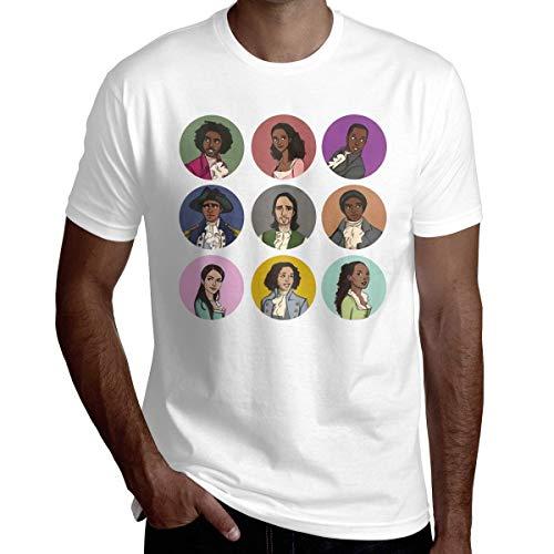 Hamilton Herren- und Jugendmode Grafik T-Shirt Baumwolle Kurzarm Sommer Schwei?absorbierend und bequemes T-Shirt f¨¹r Erwachsene 3X-gro?