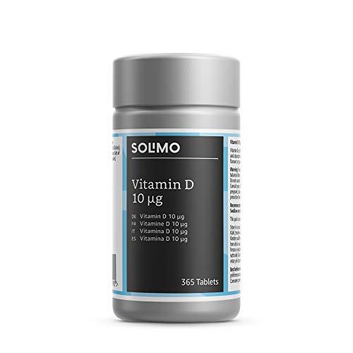 Amazon-Marke: Solimo Nahrungsergänzungsmittel mit Vitamin D 10 μg, 365 Tabletten