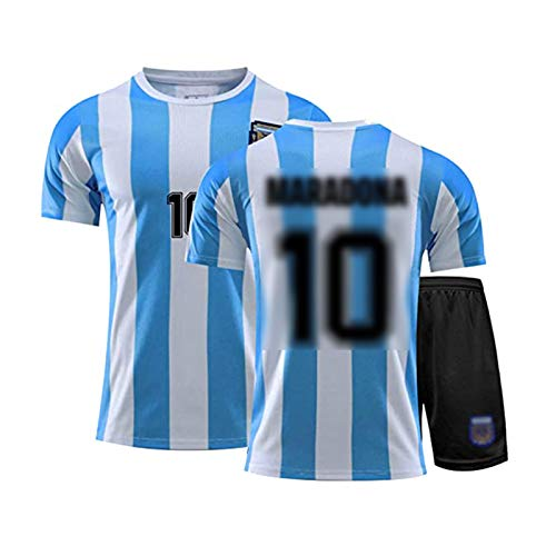 Herren Football Jersey - # 10 Mǎrǎdǒnǎ Sportwettbewerb Anzüge, Argentinien Weltmeisterschaft Fans Football Jersey T-Shirt Und Shorts Set, Unterstützer T-Shirt Sport S