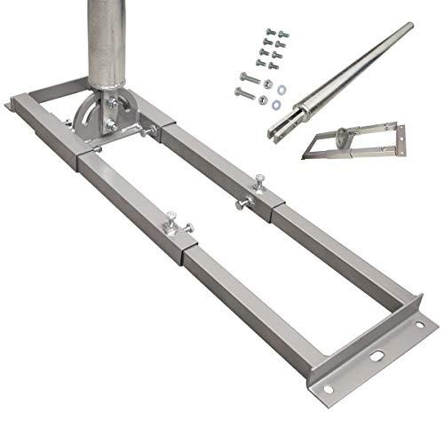 PremiumX Profi X100-60 SAT Dachsparrenhalter 100 cm Mast 60 mm Stahl feuerverzinkt Sparren-Halterung für Satelliten-Antenne Satellitenschüssel