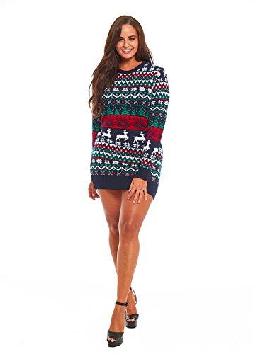 Uisex Men Women Ugly Christmas Sweater. Funny Festive Tunic Santa Xmas Pullover