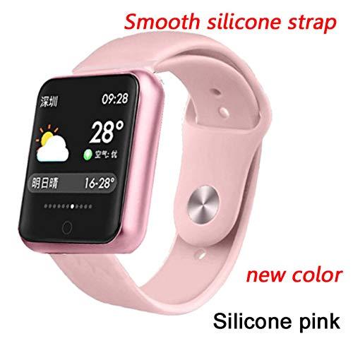 LYWBLACK Intelligentes ArmbandLYWBLACK Intelligentes ArmbandSmart Bracelet Multi-Sport Wristband IP68 Waterproof Activity Fitness Tracker Heart Rate Smart Watch Men Women,Silicone pink New