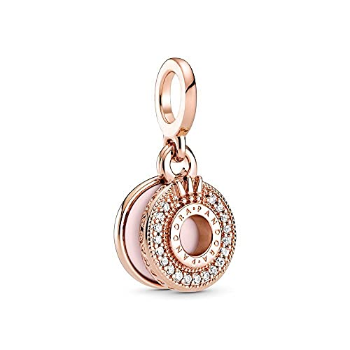 Rose Gold Daisy Cross Colgante Accesorio Fit Original Pandora Pulseras Collar para Mujeres Charm Beads DIY Plata De Ley 925 Fabricación De Joyas D19