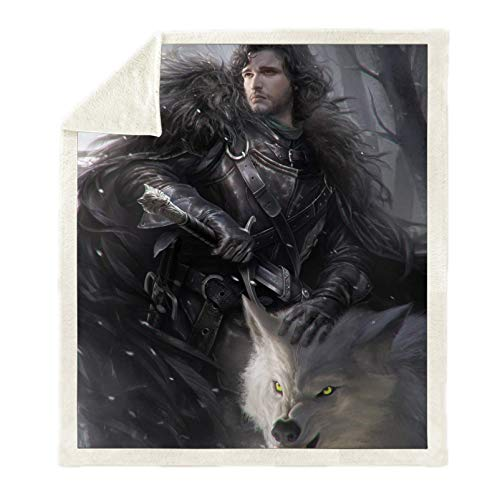 """DWSM - Coperta e plaid con motivo """"Game of Thrones"""" stampata, per divano o Nap coperta, per bambini e adulti, morbida e calda (18,130 x 150 cm)"""