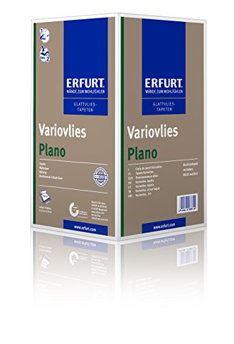 Erfurt Glattvlies Variovlies | Plano 53 cm - 1 Karton mit 9 Rollen