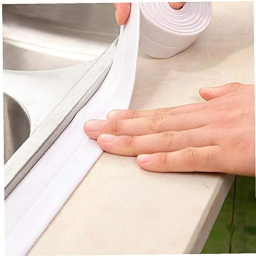 LAVALINK 1 Roller PVC-Badezimmer-Wand-Wasserstop mit Wasserdichtes Mold Adhesive Spülbeckens Selbstklebende Adjustment Band Badezimmer