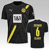 PUMA BVB Auswärtstrikot Erwachsen Saison 2020/21, Größe:M, Spielername:6 Delaney