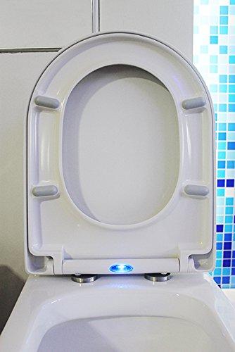 WC-Sitz Soft-Close U1002 mit LED-Beleuchtung - passend für BERNSTEIN WCs (CH1088, 1088R, NT2019, NT2039, B-8030, CT1088, CT1099)