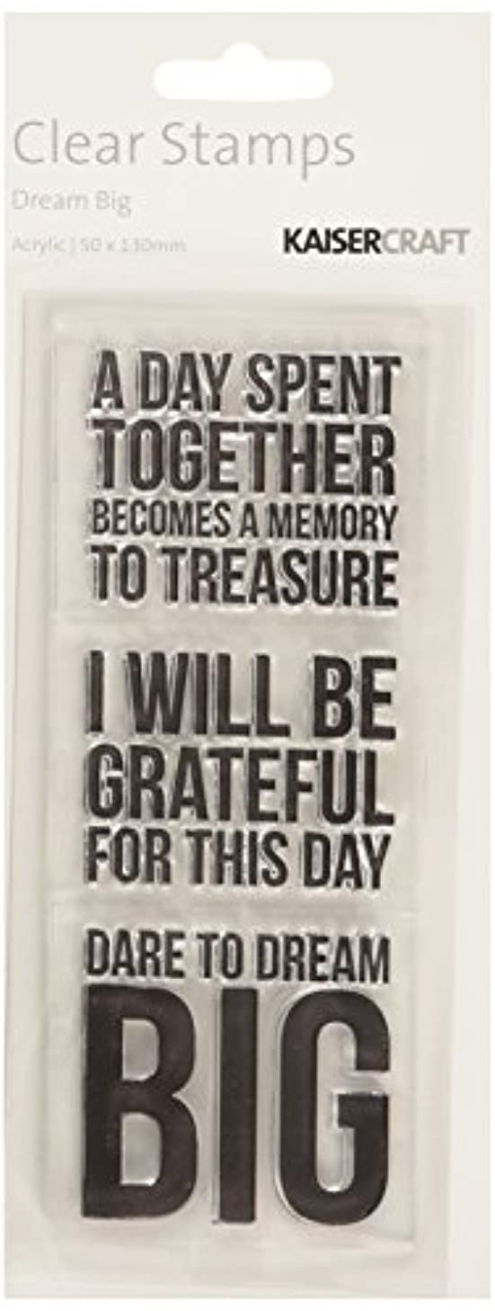 Kaisercraft CS129 Acrylic Rubber Texture Stamp, 2 by 5-Inch, Dream Big, Clear