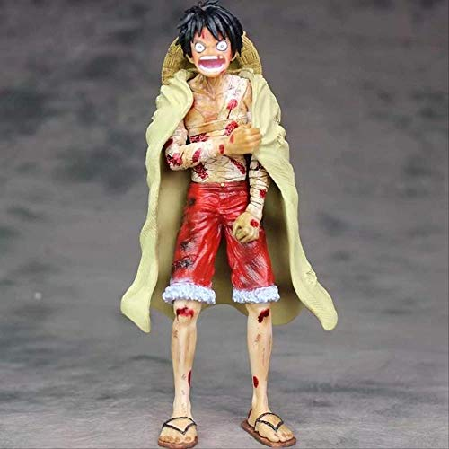 KIJIGHG One Piece Monkey D. Luffy 20cm Anime Four Kings Cake Island Battle Damage PVC Figura de...