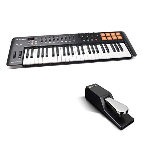 M-Audio Oxygen 49 IV + SP-2 - USB Keyboard und Pad MIDI Controller mit anschlagdynamischen Tasten + Universal Sustain Pedal mit Piano Style Action