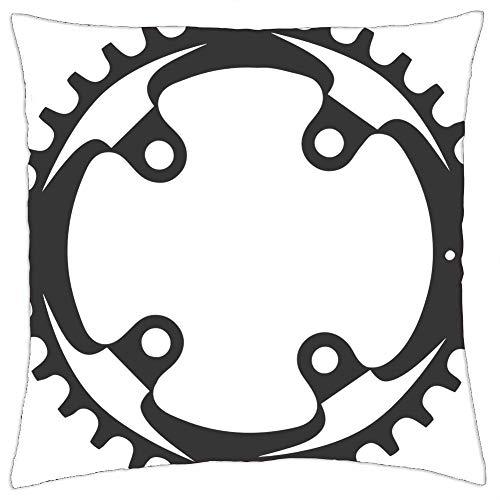 LESGAULEST Throw Pillow Cover (16x16 inch) - Mountain Bike Chainring Chain Sram Gear
